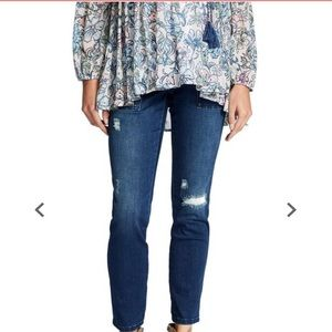 Jessica Simpson maternity side panel ankle jeans M